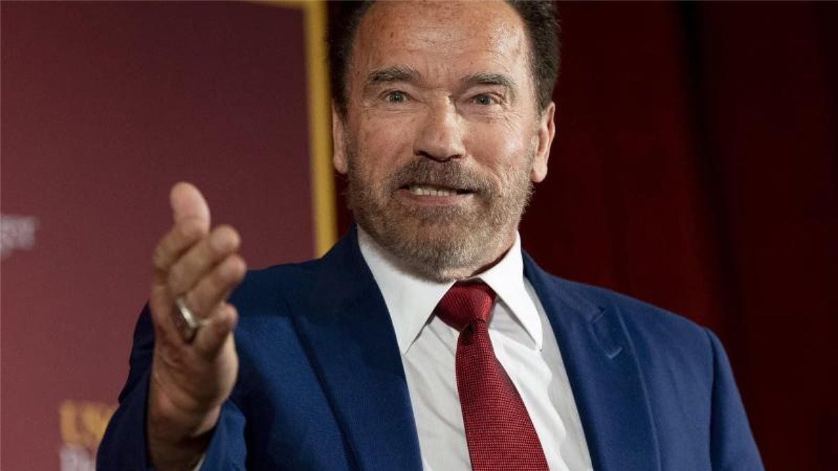 Der stolze Großpapa: Arnold Schwarzenegger. Foto: Paul Bersebach/Orange County Register via ZUMA/dpa
