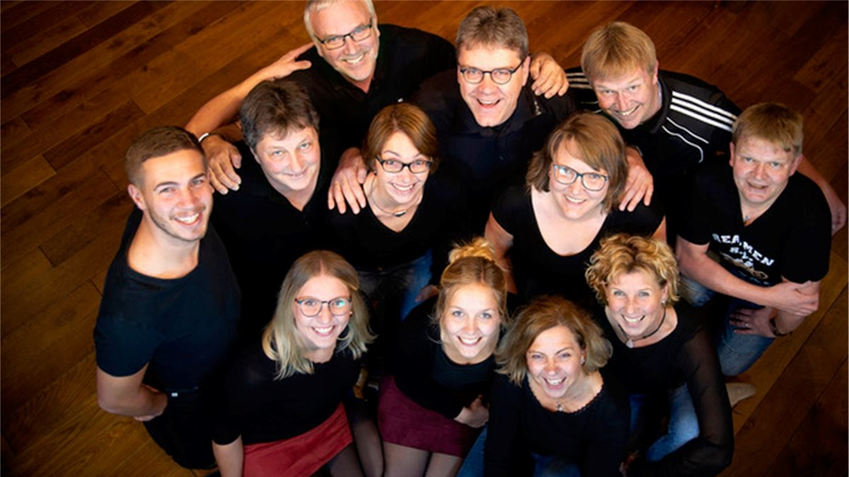 "Die Theatergruppe Staffhorst übt derzeit den ""Wesseljohrn"" ein.Foto: One Point Design"