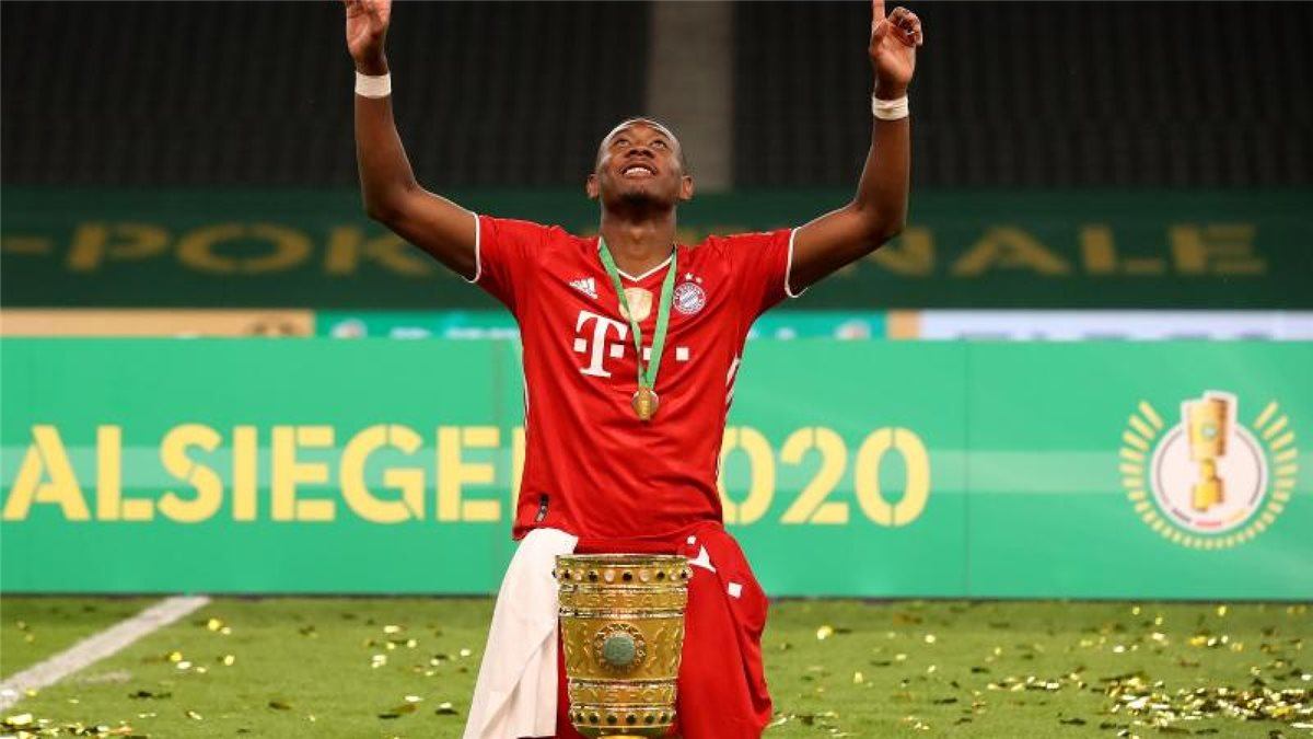 Soll bei Man City hoch im Kurs stehen: Bayern-Profi David Alaba. Foto: Alexander Hassenstein/Getty Images Europe/Pool/dpa