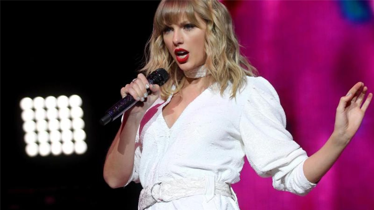 US-Sängerin Taylor Swift in der O2 Arena 2019 in London. Foto: Isabel Infantes/PA Wire/dpa
